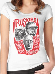 Ruskies-Russian Composers Women's Fitted Scoop T-Shirt