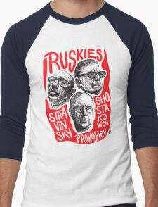 Ruskies-Russian Composers Men's Baseball ¾ T-Shirt