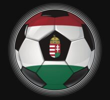 Hungary - Hungarian Flag - Football or Soccer by graphix