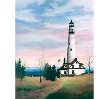 Wind Point Light Photographic Print