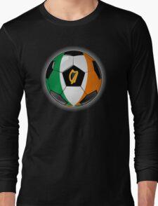 Ireland - Irish Flag - Football or Soccer Long Sleeve T-Shirt