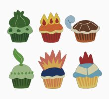 starter pokemon as cupcakes T-Shirt
