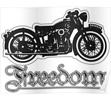 Freedom of the Motorcyclist Poster