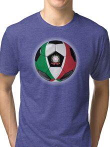 Italy - Italian Flag - Football or Soccer Tri-blend T-Shirt