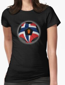 Norway - Norwegian Flag - Football or Soccer Womens Fitted T-Shirt