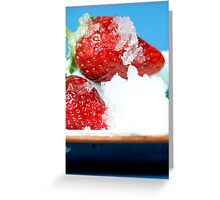 Iced Strawberries Greeting Card
