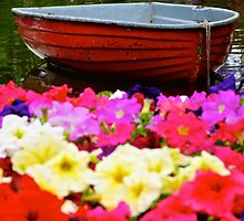 Red Boat Flower Bed by D-GaP