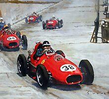1958 Monaco GP #38 Ferrari D246 Hawthorn  by Yuriy Shevchuk