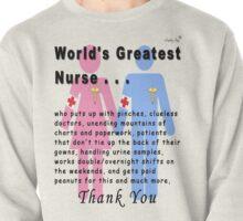 World's Greatest Nurse Pullover