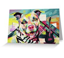 Rockstar Pup Greeting Card