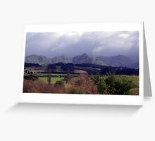 Ranges in new Zealand Greeting Card