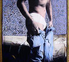 Self Portrait With Jeans by John Douglas