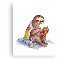 Cozy Sloth Canvas Print