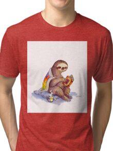Cozy Sloth Tri-blend T-Shirt