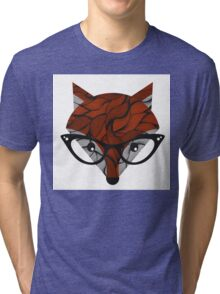 Fox. Vector illustration.  Tri-blend T-Shirt