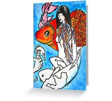 The Sea King's Daughter Greeting Card