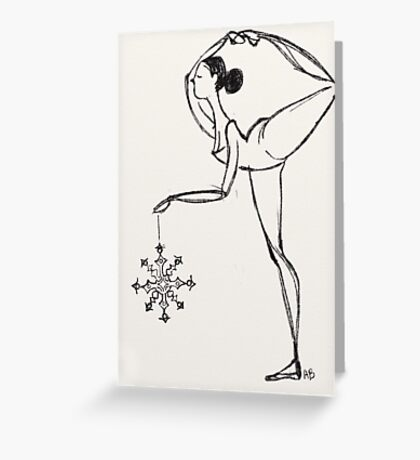 waltz of the snowflakes  Greeting Card