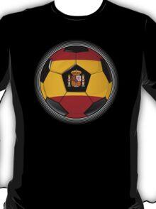 Spain - Spanish Flag - Football or Soccer T-Shirt
