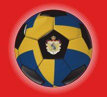 Sweden - Swedish Flag - Football or Soccer One Piece - Short Sleeve