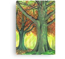 The Green Wood Canvas Print