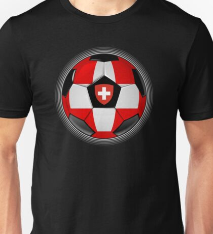 Switzerland - Swiss Flag - Football or Soccer Unisex T-Shirt