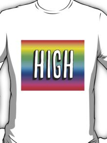 Art Print - Colourful High -Word- Typography T-Shirt