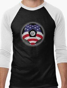 USA - American Flag - Football or Soccer Men's Baseball ¾ T-Shirt