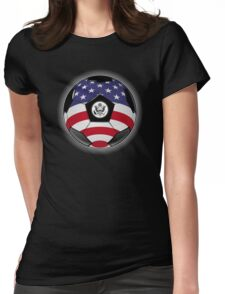 USA - American Flag - Football or Soccer Womens Fitted T-Shirt
