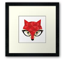 Hipster fox. Framed Print