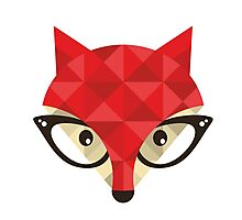 Hipster fox. Photographic Print