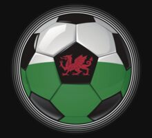 Wales - Welsh Flag - Football or Soccer Baby Tee