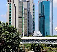Old Train, Futuristic Buildings - Kuala Lumpur, Malaysia. by Tiffany Lenoir