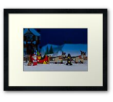 Santa gets wheel clamped Framed Print