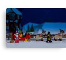 Santa gets wheel clamped Canvas Print