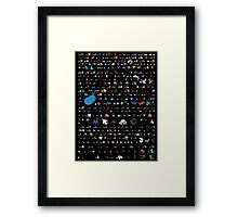 all pokemons minimalism design Framed Print