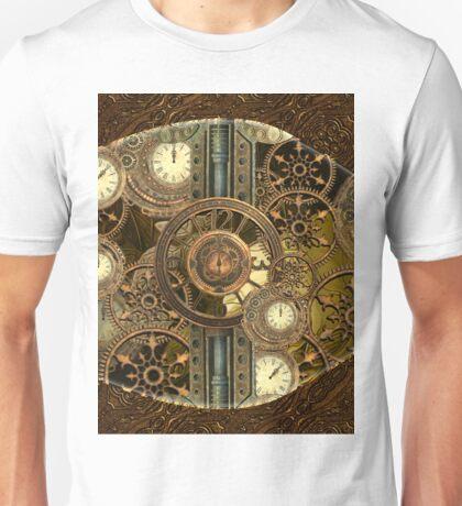 Steampunk, awesome clocks Unisex T-Shirt