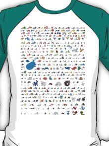 all pokemons minimalism design T-Shirt