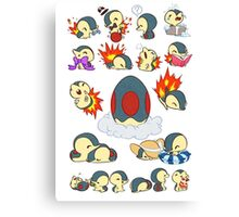 cyndaquil kawaii design  Canvas Print