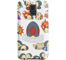 cyndaquil kawaii design  Samsung Galaxy Case/Skin