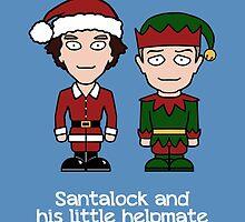 Sherlock Christmas card: Santalock by redscharlach