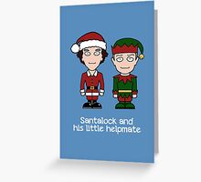 Sherlock Christmas card: Santalock Greeting Card