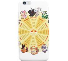 zpdiac calendar pokemon 5th gen iPhone Case/Skin