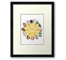zpdiac calendar pokemon 5th gen Framed Print