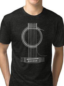 black acoustic Tri-blend T-Shirt