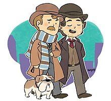 Sherlock Holmes & Dr. Watson by Oochami