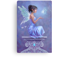 Opalite Fairy with Glowing Butterfly Metal Print