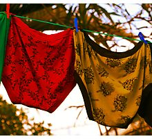 Knickers............. Not to be confused with knockers although both tend to lose their elasticity in time!! Photographic Print