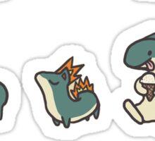 2nd gen pokemon cute starters Sticker