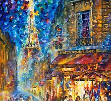 Paris Recruitment Cafe 2 — Buy Now Link - www.etsy.com/listing/212183819 by Leonid  Afremov