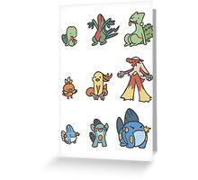 3rd gen pokemon starters cute design Greeting Card